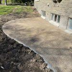 exposed concrete patio