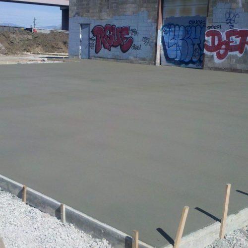 small concrete loading docks