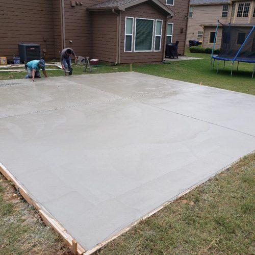 Concrete Slab for Storage Unit