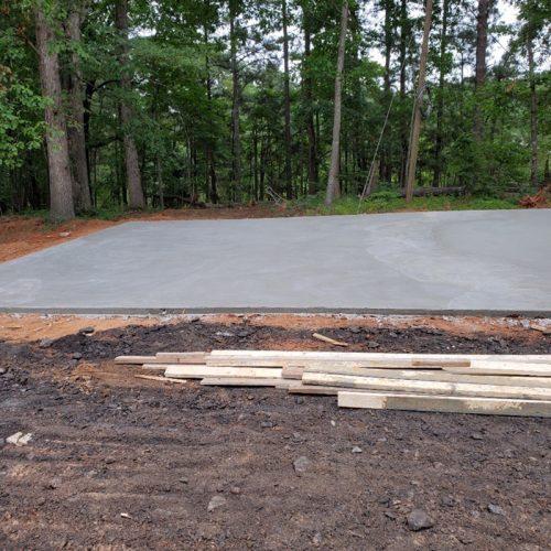 Concrete Slab for RV