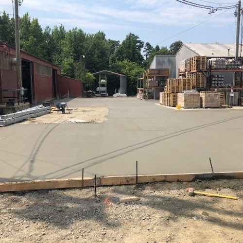 commercial-concrete parking lot